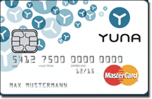 Paysafecard YUNA card for pre-paid casino deposits
