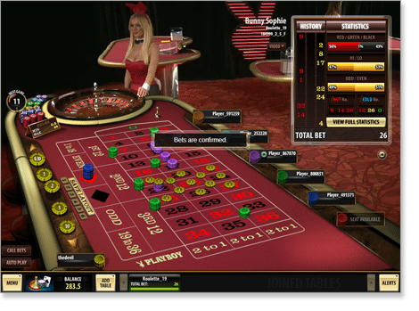 Microgaming and Playboy Live Dealer Roulette