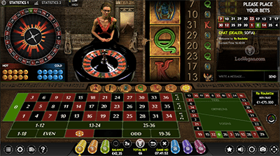 Ra Roulette live dealer by Extreme Gaming