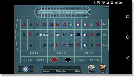 Mobile roulette online apps on smartphone and tablets