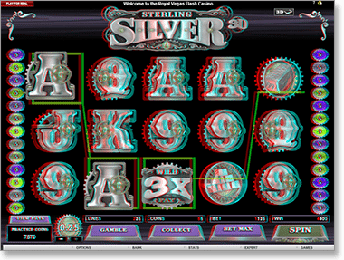 Sterling Silver 3D online video slots