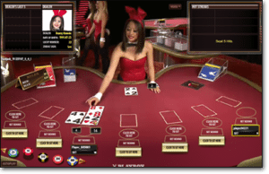 Live dealer playboy games by Microgaming software