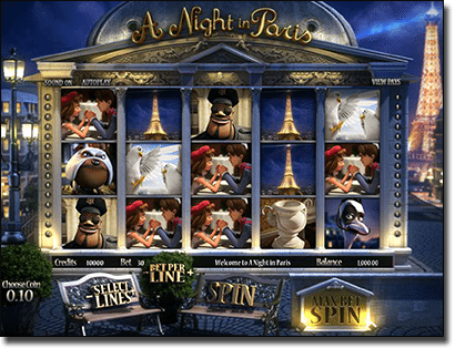 A Night in Paris 3D pokie by BetSoft