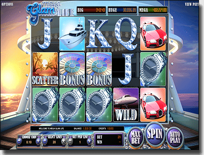 Play Glam Life pokies by BetSoft