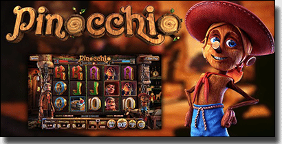 Pinocchio online slots by BetSoft