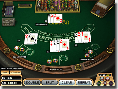 Play Pontoon online for real money AUD cash