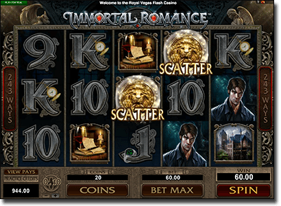 Immortal Romance slots by Microgaming