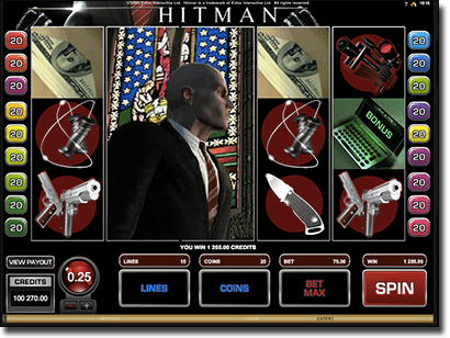 Hitman online slots wilds and scatter symbols