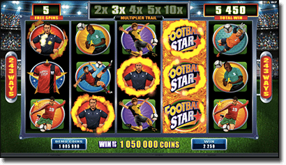 Football Star - free spins and wilds features