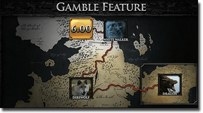 Game of Thrones video slots gamble feature