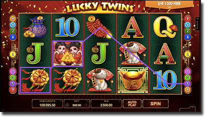 Lucky Twins real money Microgaming pokies