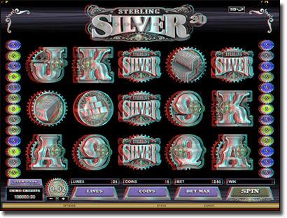 Sterling Silver 3D online pokies by Microgaming