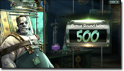 Frankenslot's Monster pokies free spins feature