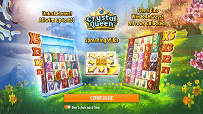Crystal Queen pokies by Quickspin software