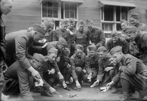 Soldiers playing craps