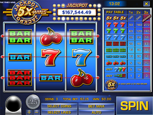 Jackpot 5X Wins by Rival