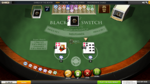 Blackjack Switch online by Playtech software