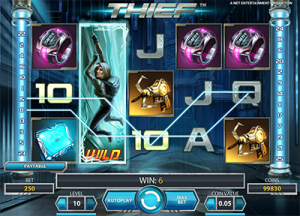 Thief online pokies by NetEnt software