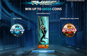 Thief bonus features and free spins