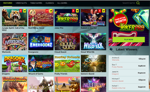 Wixstars online casino site interface